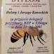 Dyplom Regionalny Związek Pszczelarzy
